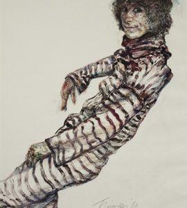 JOYCE WAHL TREIMAN Edie in Striped Dress