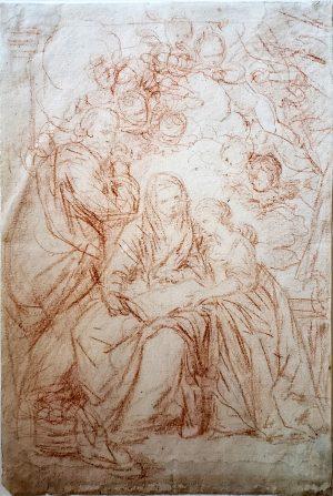 JH FRAGONARD (ATTRIBUTED) Education of the Virgin Mary