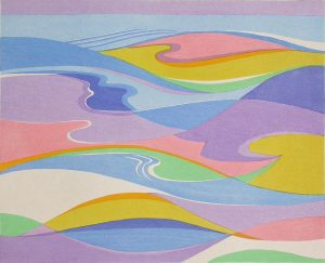 STANTON MACDONALD-WRIGHT Haiga #7-The spring sea swelling and falling all day