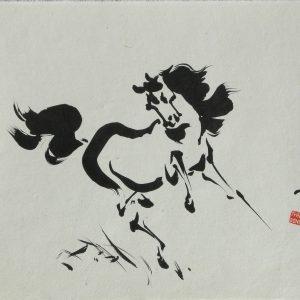 TYRUS WONG Horse Prancing