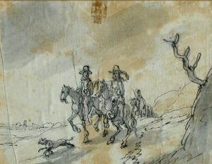 JACOB VAN HUCHTENBURGH Horsemen in Landscape