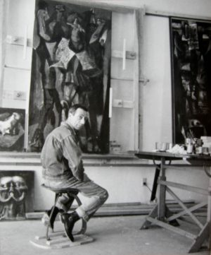 LOU JACOBS JR Rico Lebrun in Studio
