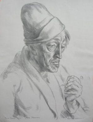 EJNAR HANSEN Sadakichi Hartmann- with Pencil