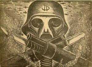 ANGEL BRACHO War Never Again: (Helmeted Nazi Soldier with Guns and Bayonets)*