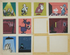 JULES ENGEL Alvin Show: Color Keying (9 Thumbnails)