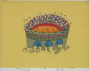 JULES ENGEL Alvin Show: Mexico - The Brave Chipmunks (Stadium Background)