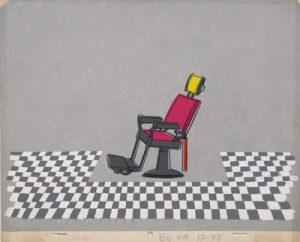JULES ENGEL Alvin Show: My Wild Irish Rose (Barber Chair Background)