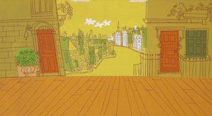 JULES ENGEL Madeline: Paris Street (Background)