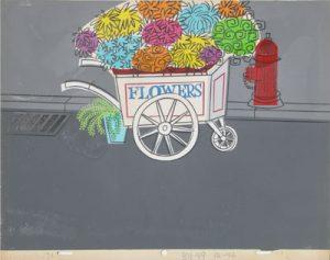 JULES ENGEL UPA: Flower Cart (Background)