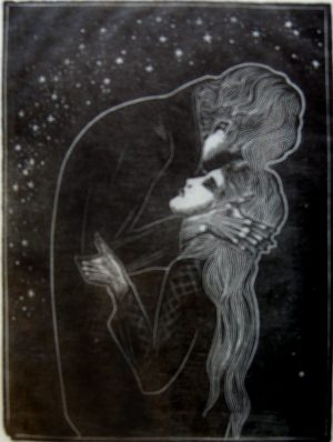 LYND WARD Gods Man The Kiss